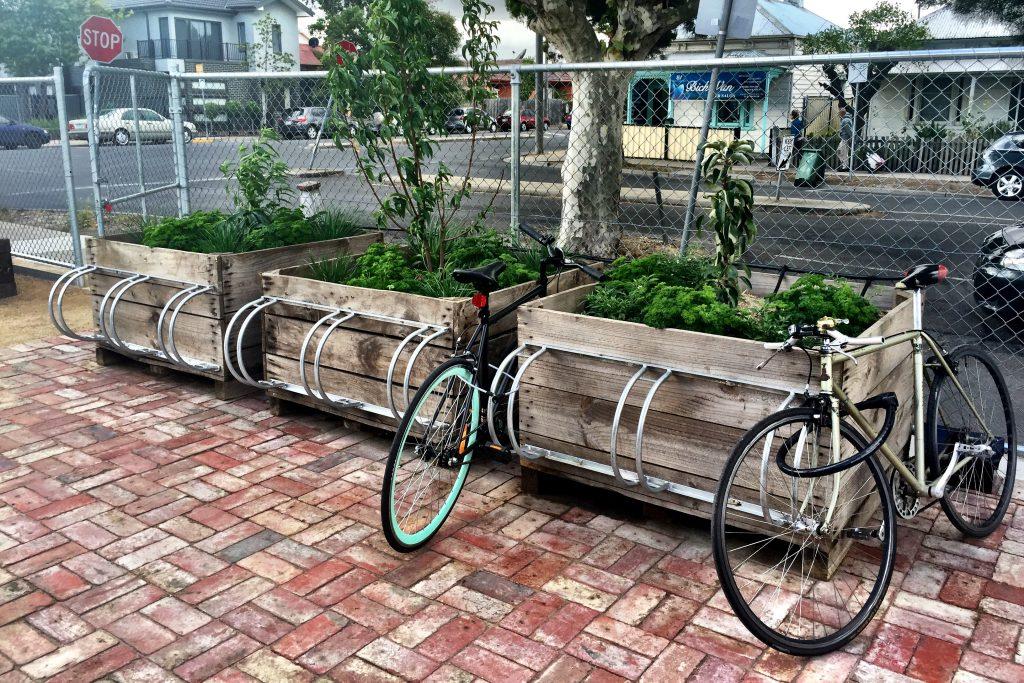 Rudimentary  - bikes parked