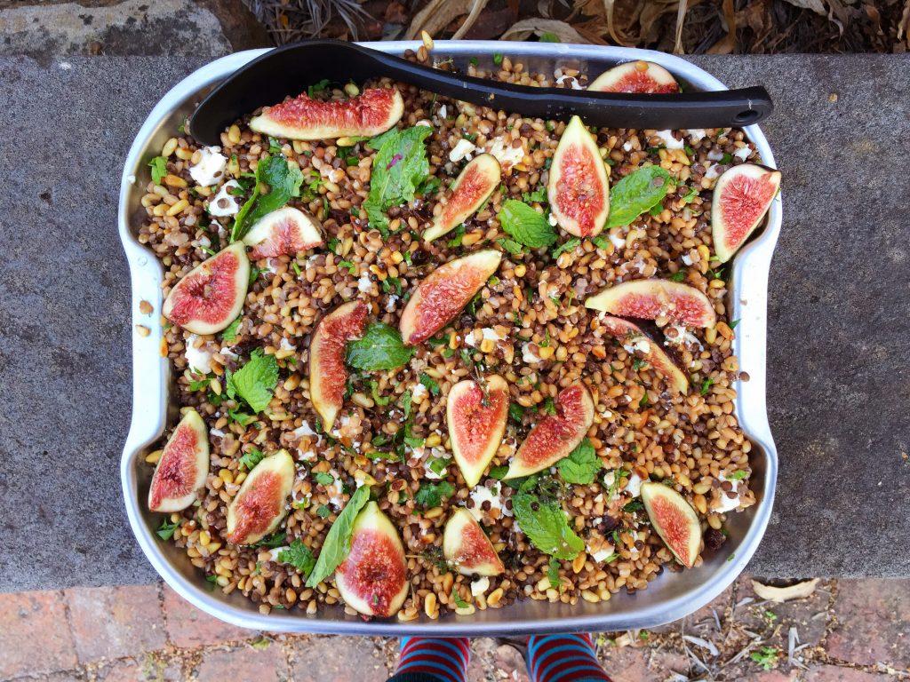 Farro and lentil salad by emma stirling