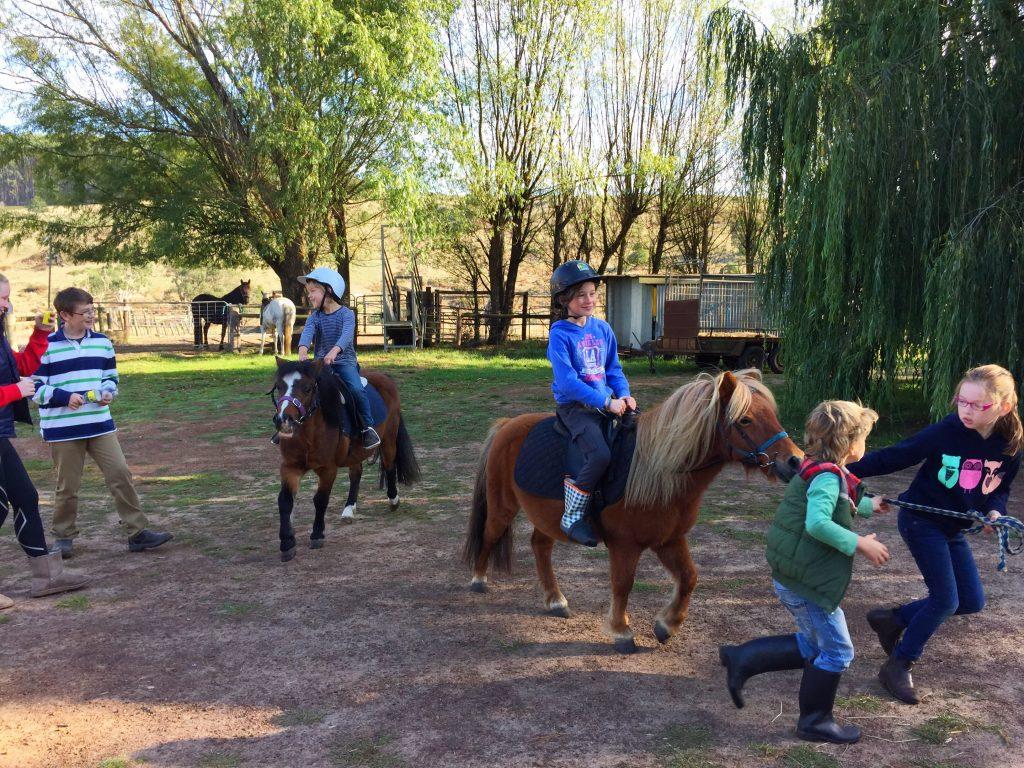 Pony rides - children enjoying