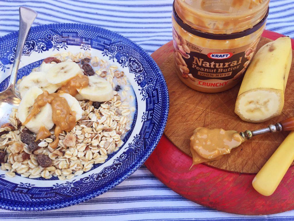 Breakfast with peanut butter