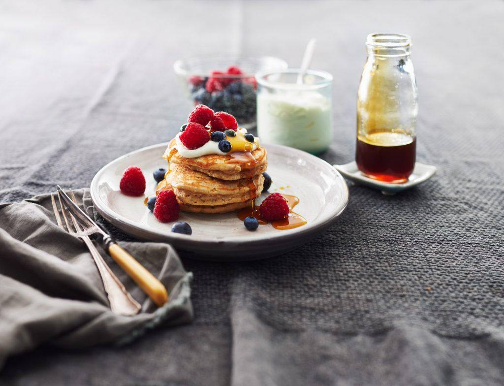 wholemea  chia peanut butter pancakes