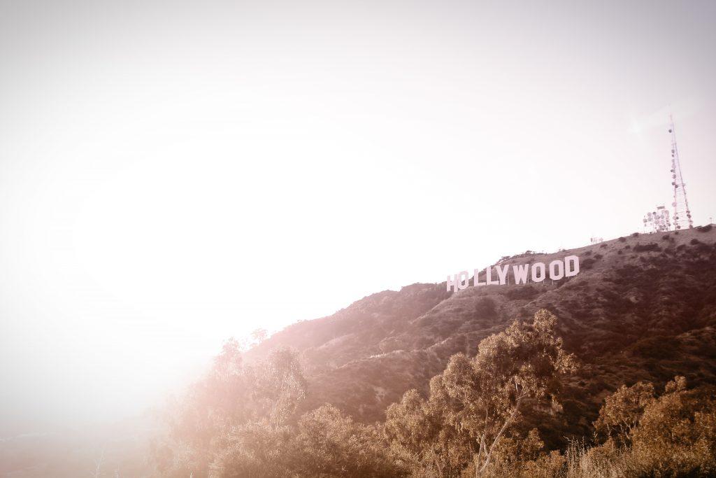 Hollywood logo on mountain